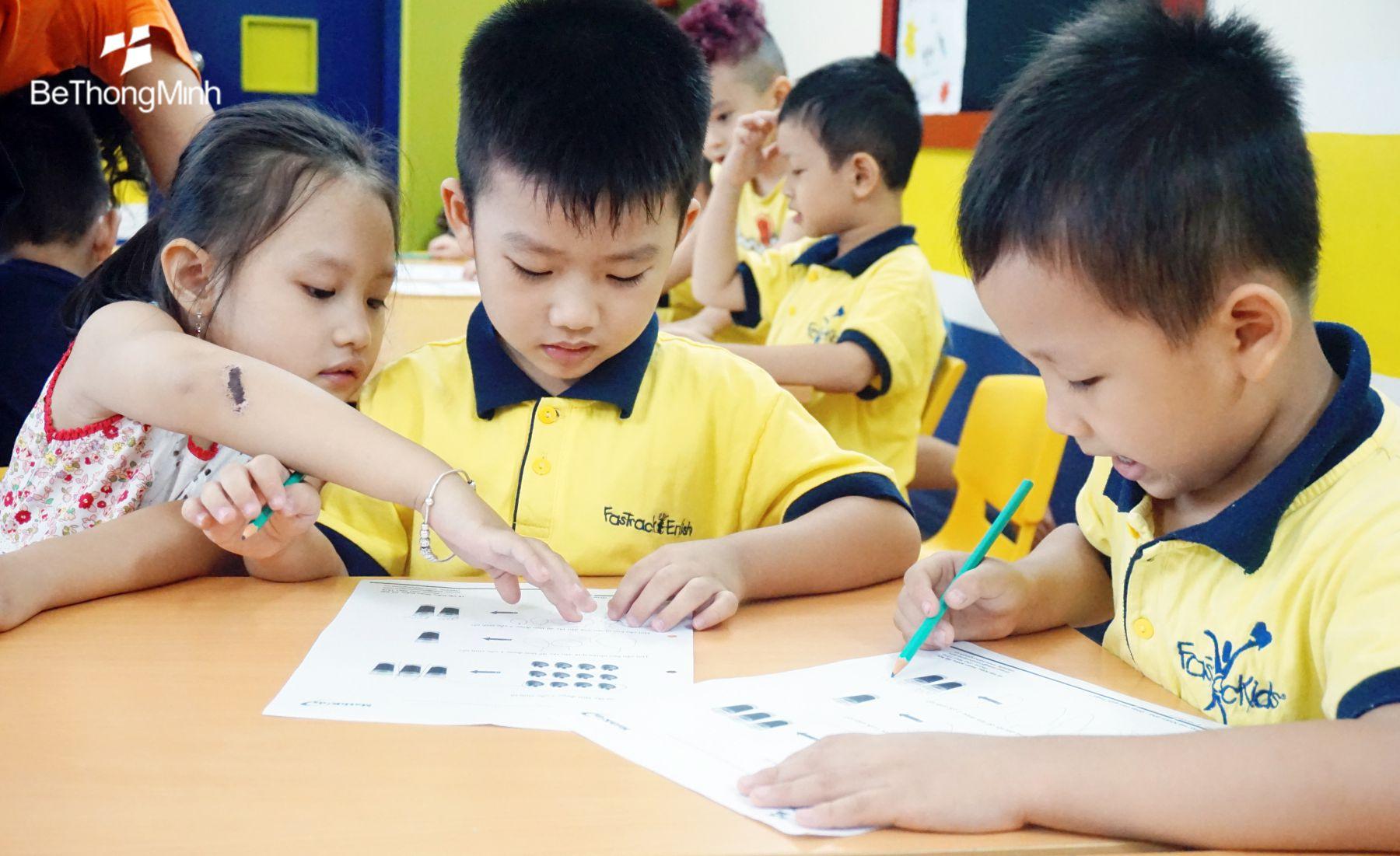 trẻ 3 tuổi có thể học toán