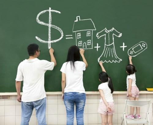 dạy trẻ về tiền